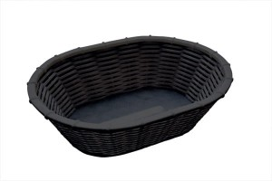 Koszyk owalny z polipropylenu 230x170x65 mm WICKER-LOOK 40216