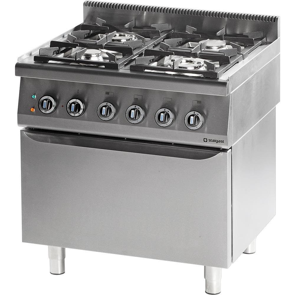 Kuchnia Gazowa 4 Palnikowa Wym 800x700x850 Z Piekarnikiem Elektrycznym 800 2057 Kw Statyczny G20 Gz50 Stalgast 971611